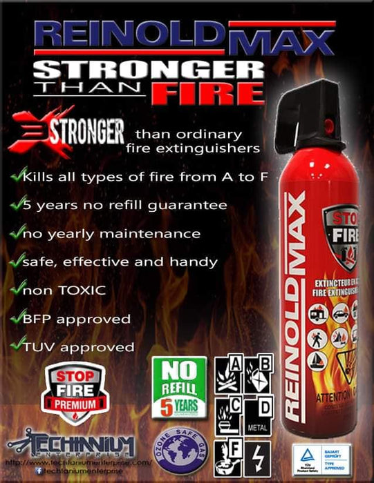 REINOLDMAX Foam Fire Extinguisher (750 Grams- Small portable)