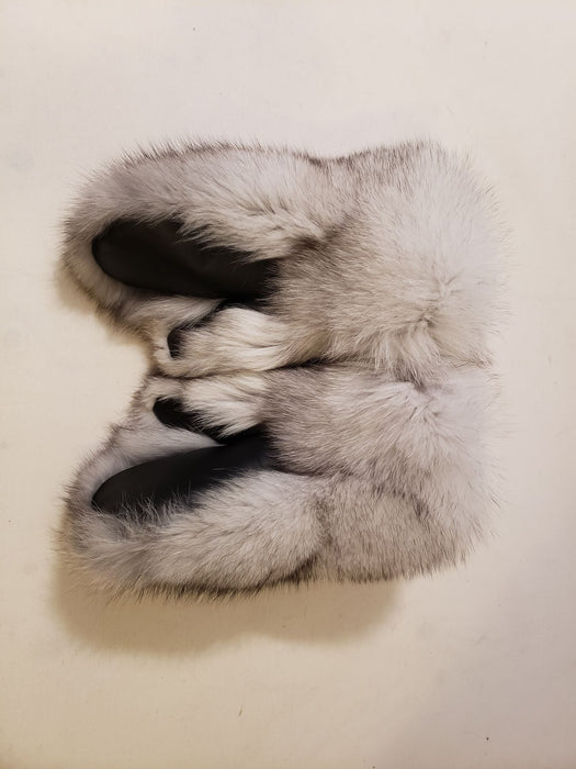Blue Fox Fur Mitts- Ladies (Made in Canada)