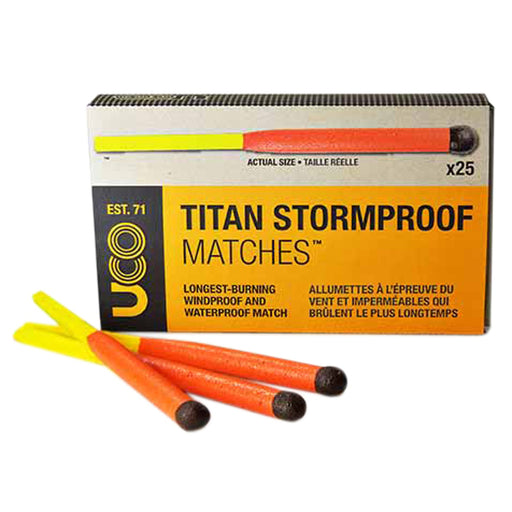 Titan Stormproof Matches X 25 UCO
