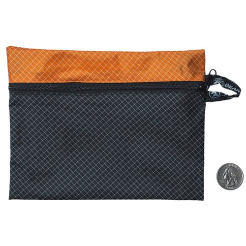Fix Anything Camp Kit zippered Satchel in black and orange.