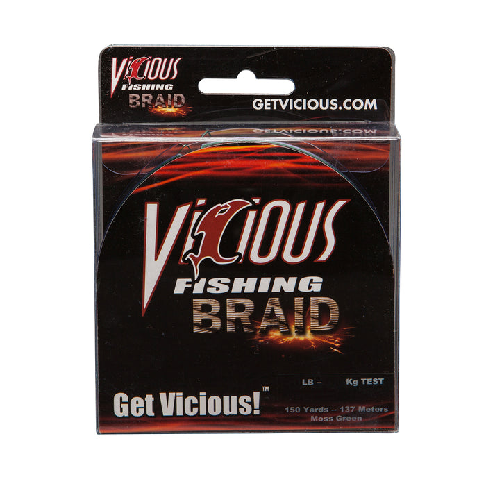 Viscious Fishing Braid (50 Lb test) 150 Yards Mossy Green