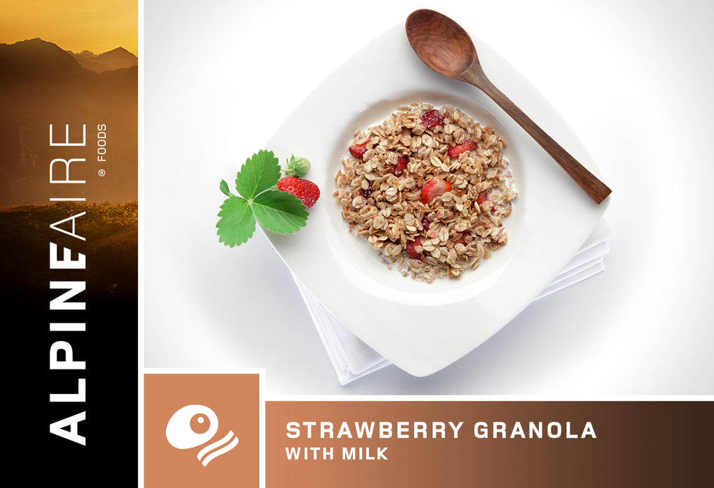 AlpineAire Foods Strawberry Granola with Milk