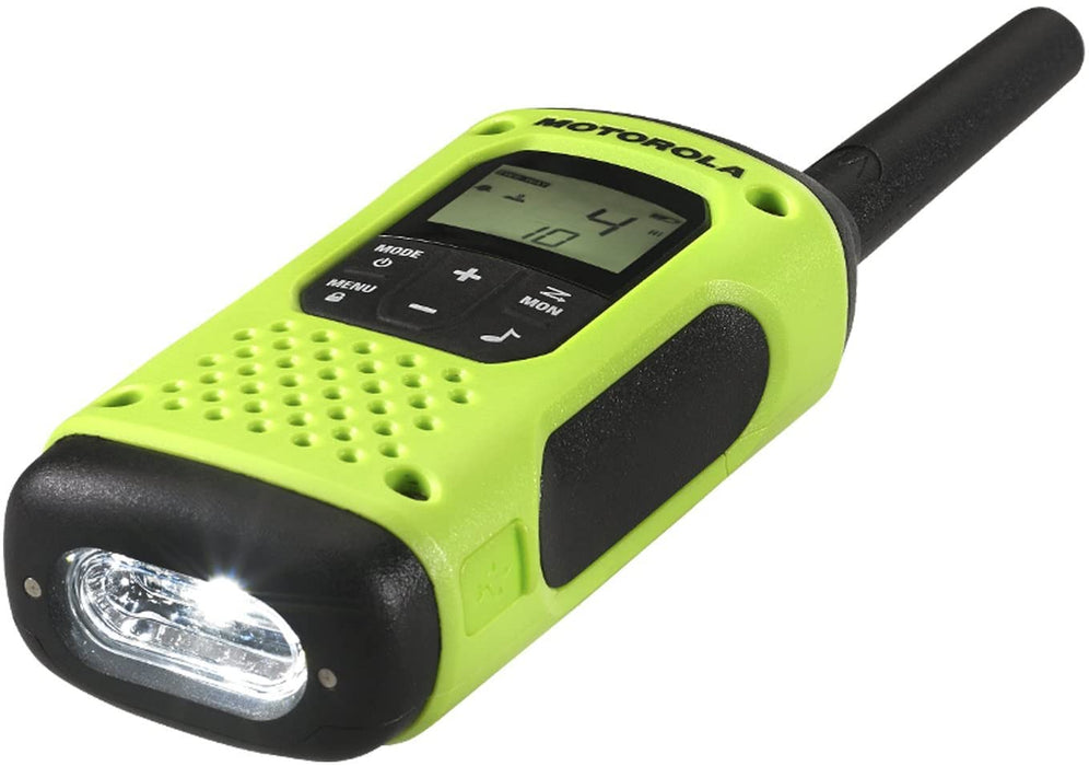 The LED flashlight of the Motorola Talkabout T600 Two way Radio.