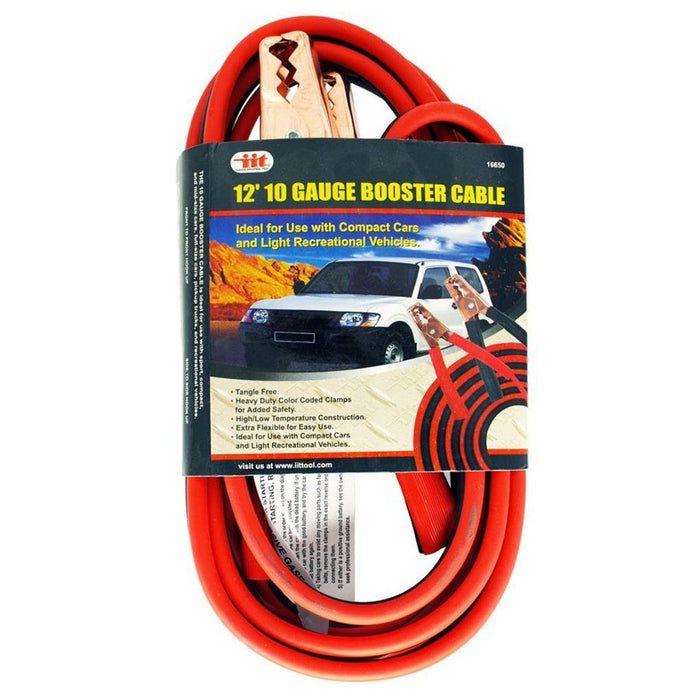 12 Foot 10 Gauge Booster Cable Set | Winter Vehicle Preparedness