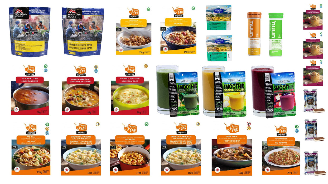 6 Day Premium Emergency Food Supply (Long shelf life)