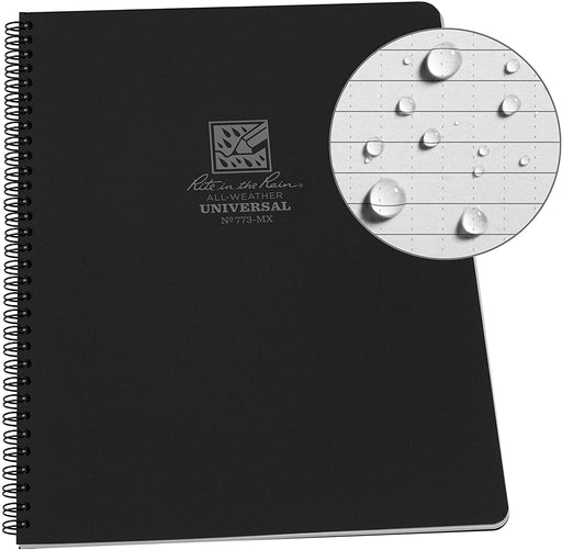 "Waterproof Large Notebook Rite in the Rain Notepad ( 8-1/2"" x 11"") CHOOSE COLOR"