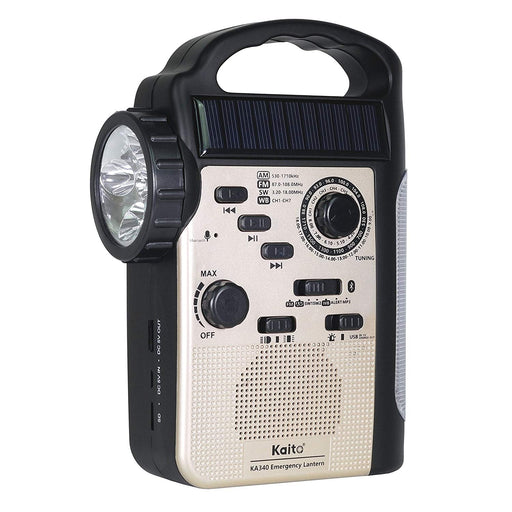 Kaito KA340 5-Way Powered Rechargeable LED Camping Lantern & Emergency AM/FM/SW NOAA