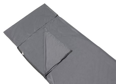 North 49 Synthetic Silk Liner for sleeping bags in grey.