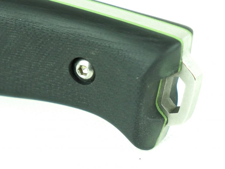 NEW! APO-1S SURVIVAL LILLY Knife Stainless Steel (AUS8) Satin Finish Green Liner