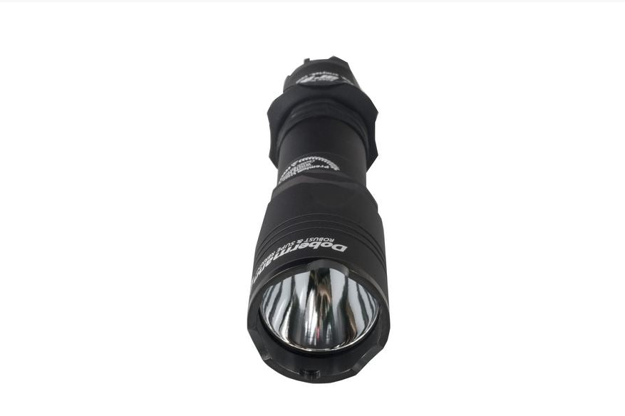front view of the dobermann pro flashlight
