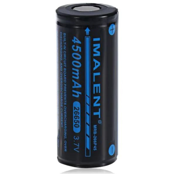 4500mAh 26650 Li-ion Rechargeable | Imalent High Capacity Battery