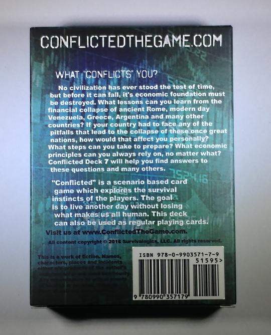Conflicted Deck 7- Financial Collapse from The Survival Card Game series