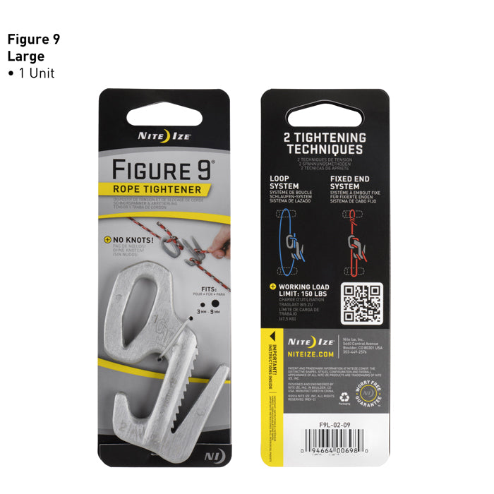 Nite-Ize- FIGURE 9® CARABINER ROPE TIGHTENER (CHOOSE SIZE)
