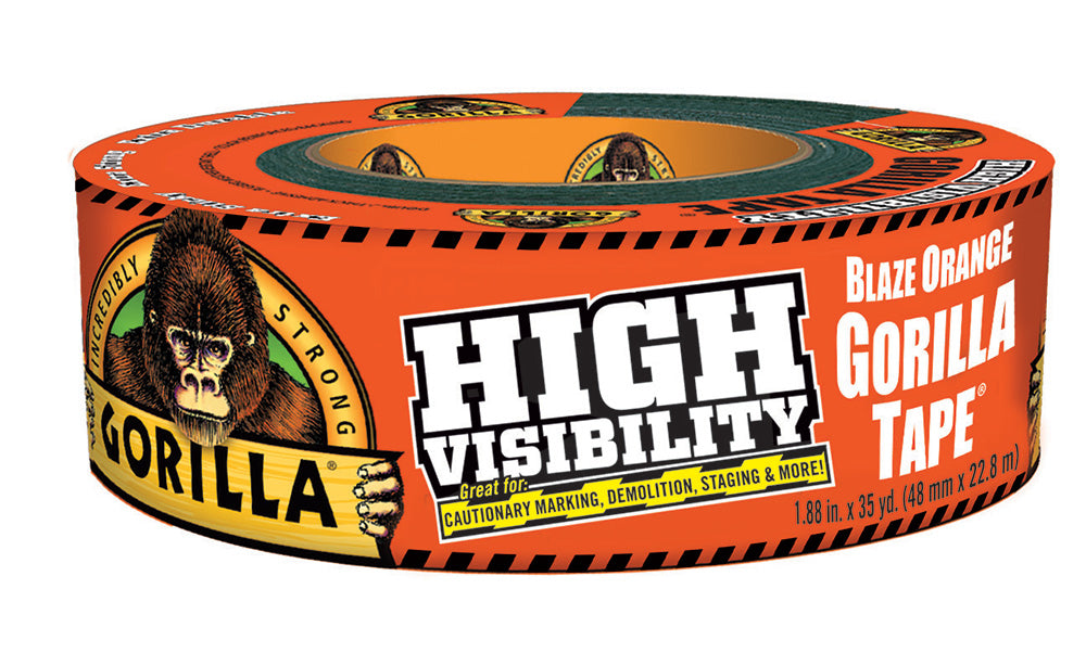 Gorilla Tape - Blaze Orange/ High Visibility (35 Yard/ 2 inch thickness)