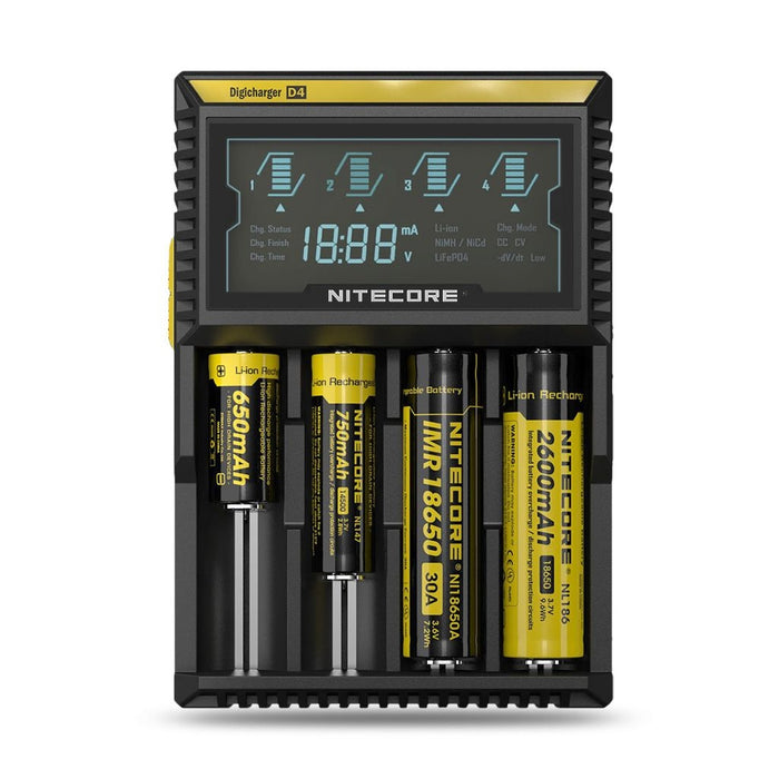Nitecore D4 Charger (Digicharger) Multibattery type charger