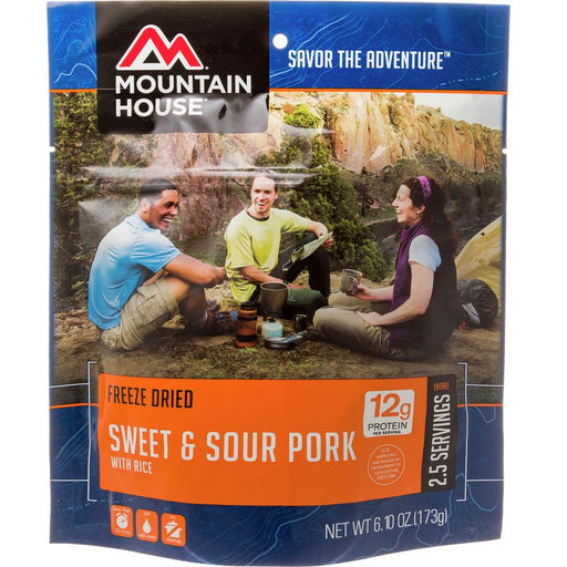 Mountain House - Sweet and Sour pork with Rice Freeze Dried package.