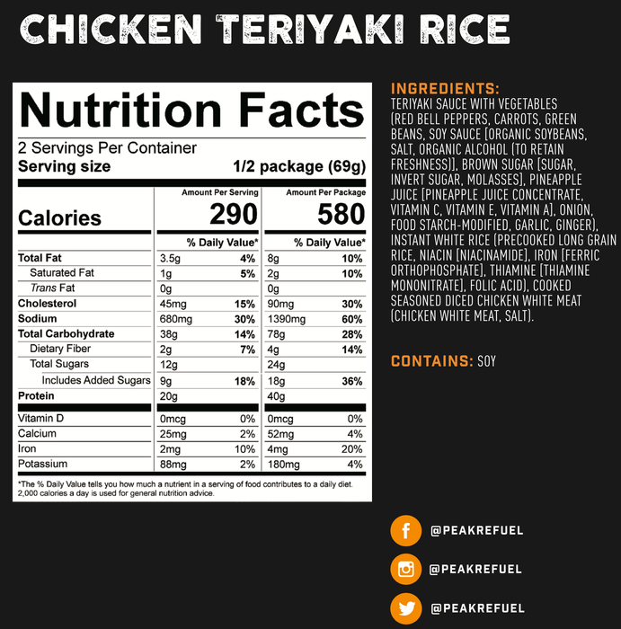 Peak Refuel- Chicken Teriyaki Rice
