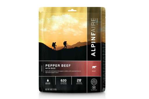 ALPINEAIRE PEPPER BEEF WITH RICE | Freeze Dried Food