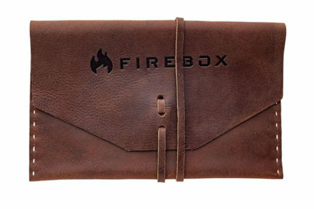 5 Inch Brown Leather case for the Firebox protable folding camp stove.