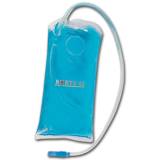 Teal blue North 49 Hydra Sack Water Bladder with detachable hose.