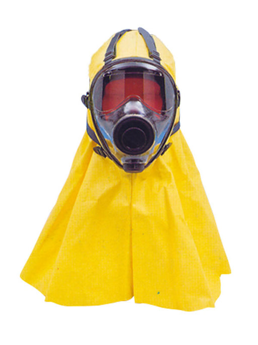 SGE 400/3 Full hooded Face mask for respiratory health with a pvc hood in yellow.