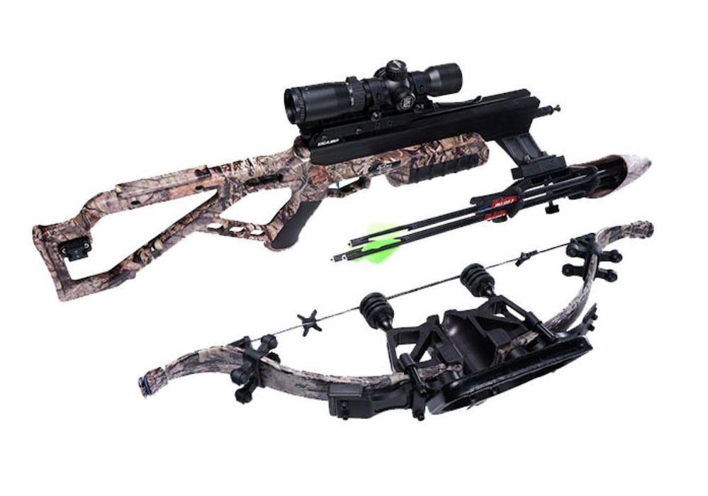 quick loc detached re-curve from the assassin 420td crossbow with 2 proflight premium arrows attached to the barrel