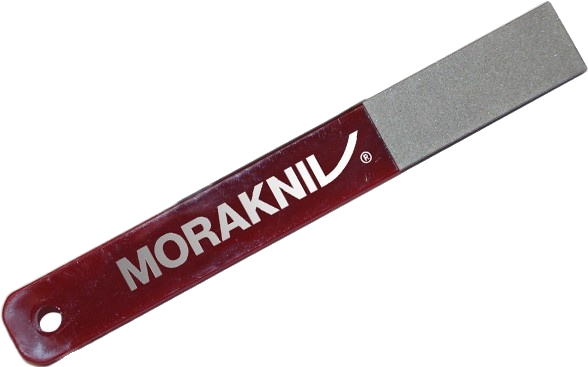 Morakniv Diamond Sharpener with a burgundy handle. The Morakniv logo is printed on the handle.