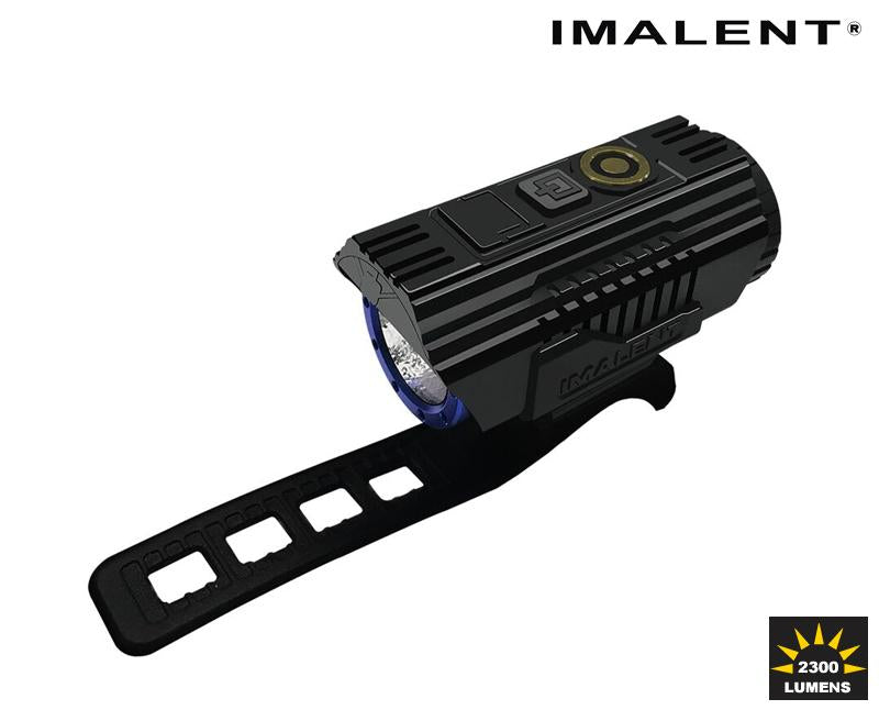 Imalet High powered BG10 Bicycle light with mount. The label '2300 lumens' is printed in the corner.