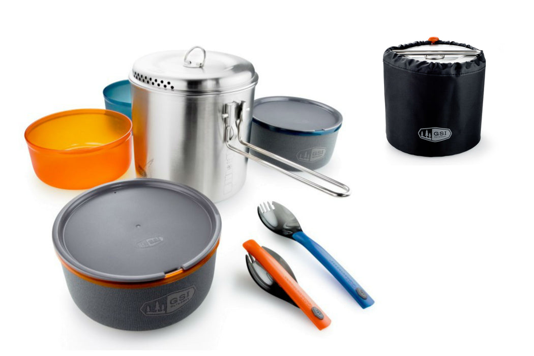 GSI Glacier Stainless Steel COMPLETE cookware system | Dualist