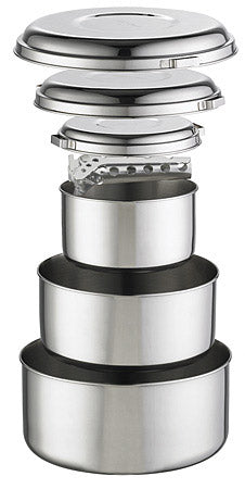 MSR Stainless Steel Group Pot Set  (Alpine 4)