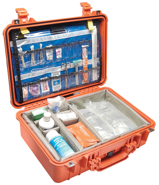 Pelican™1500 EMS Medical Case w/ Dividers/ organizer