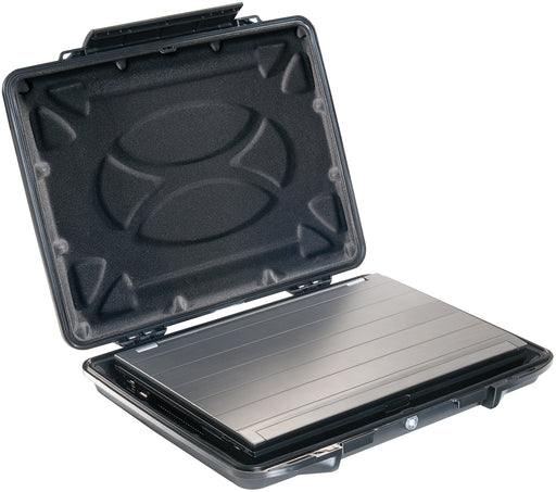 "A protected laptop in the Pelican 095CC HardBack 15"" Laptop Case in Black."