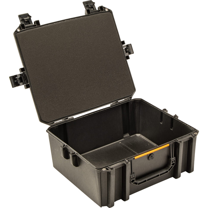 Spacious inside of the Pelican V600 Gun Series Large Equipment Case in Black.