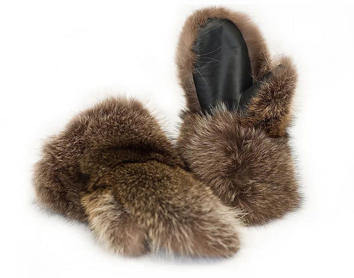 Raccoons Fur Mitts- Mens (Made in Canada)
