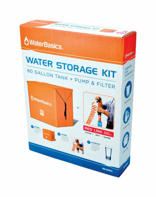Water Storage Kit (60 Gallon Tank + Pump and Filter)