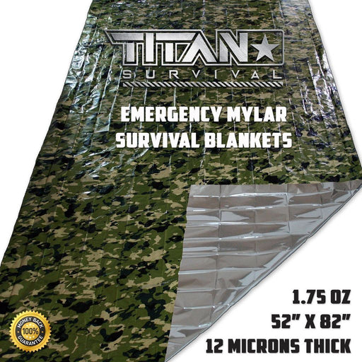 Titan Survival Blanket | Camoflauge (Single)