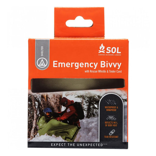 Survive Outdoors Longer® Emergency Bivvy + Rescue Whistle & Tinder Cord