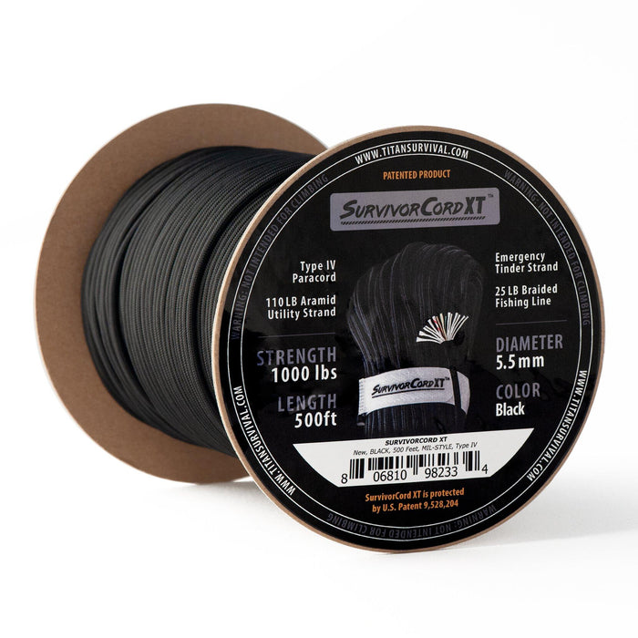 (NEW!!) TITAN SurvivorCord XT 500 FOOT SPOOL (Kevlar + Survivorcord)