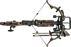 top down view of the assassin 420 TD re-curvecrossbow with 2 proflight premium arrows