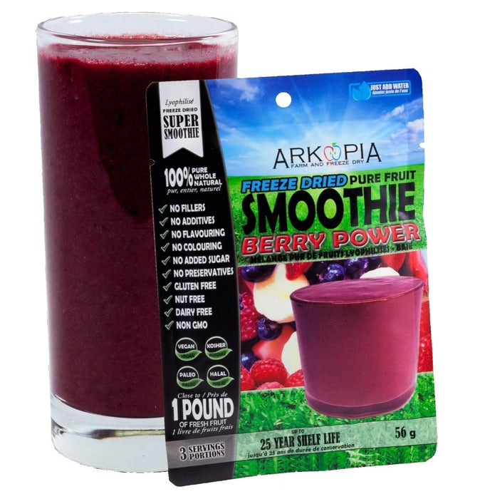 (24 PACK) Arkopia Freeze Dried Smoothies | 25 Year Shelf Life