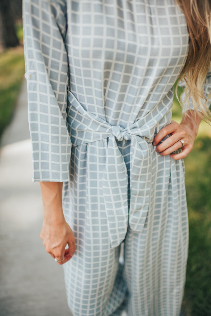 Suzie Checkered Jumpsuit - Bottoms