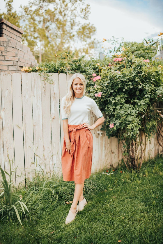 Bostyn Skirt In Rust - Dress