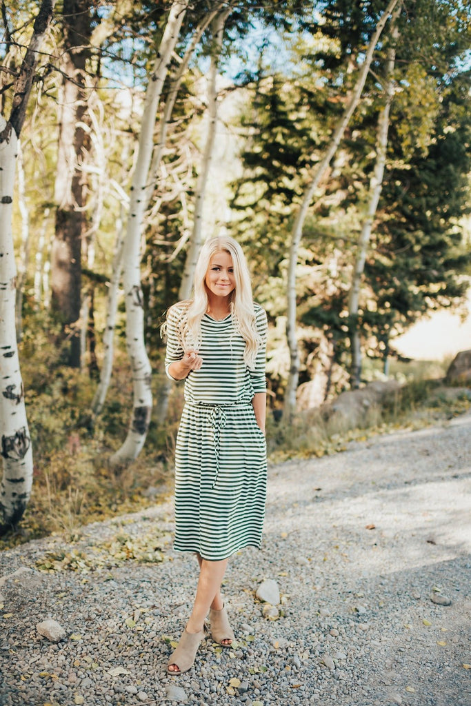 Sierra Dress In Olive - Dress