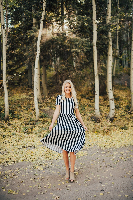 Annie Black And White Dress - Dress