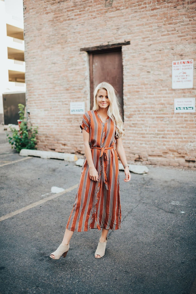 Sammy Dress In Rust - Dress