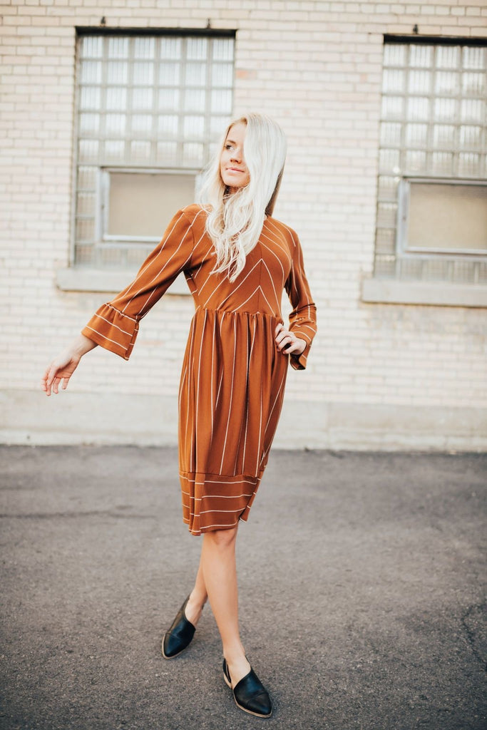 Stella Dress In Rust - Dress