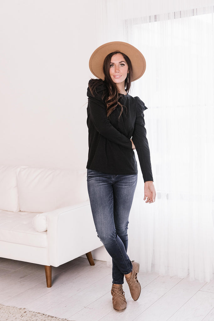 SICELY PUFFED SLEEVE TOP