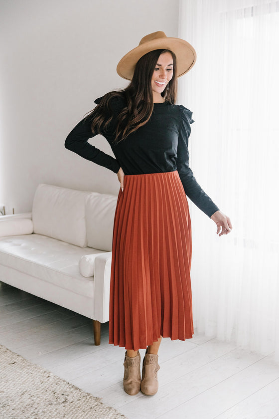 JESSICA SKIRT IN RUST