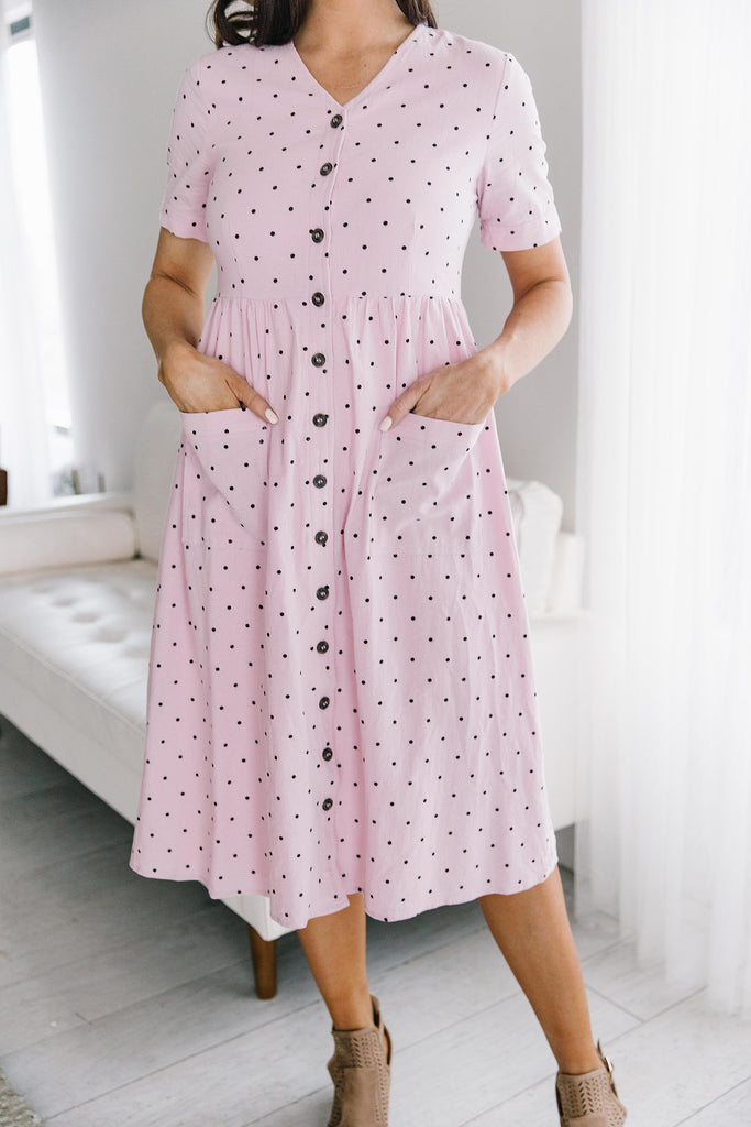 LAUREN DRESS IN MAUVE