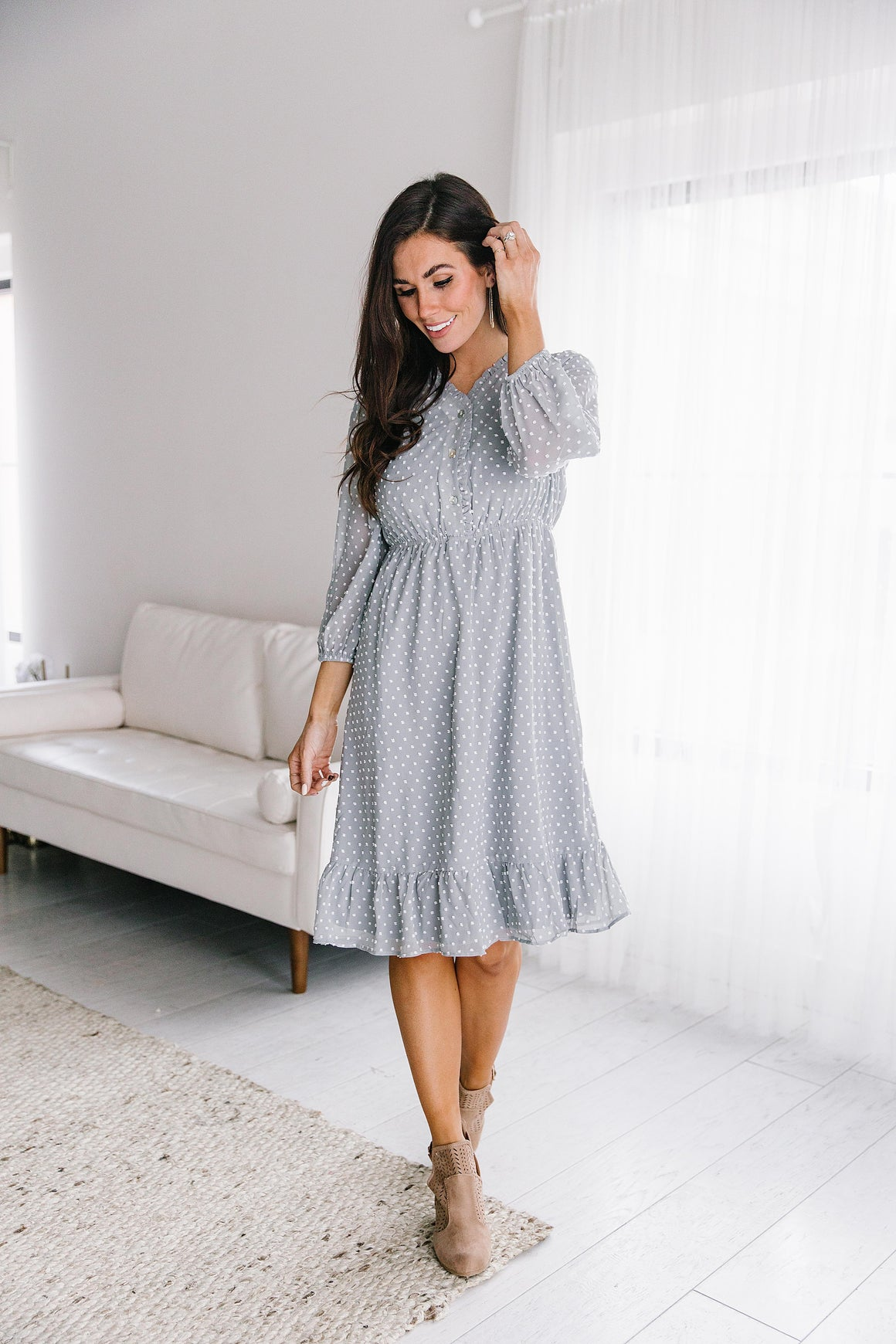 GRACELYNN SWISS DOT DRESS